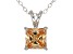 2.10ct Cubic Zirconia Sterling Silver Solitaire Pendant With 18
