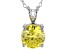 3.46ct Yellow Cubic Zirconia Sterling Silver Solitaire Pendant With 18