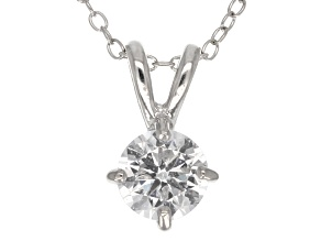 1.43ct Cubic Zirconia Sterling Silver Pendant With 18