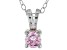 .43ct Pink Cubic Zirconia Sterling Silver Solitaire Pendant With 18