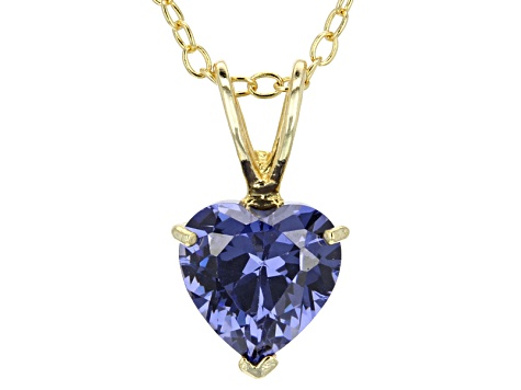 1.92ct Cubic Zirconia 18k Yellow Gold Over Sterling Silver Pendant With 18