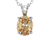 3.16ct Cubic Zirconia Sterling Silver Solitaire Pendant With 18