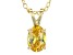1.30ct Cubic Zirconia 18k Yellow Gold Over Sterling Silver Pendant With 18