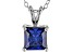 2.10ct Blue Cubic Zirconia Sterling Silver Pendant With 18