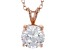 3.46ct Cubic Zirconia 18k Rose Gold Over Sterling Silver Pendant With 18