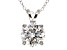 "4.68ct Cubic Zirconia Sterling Silver Solitaire Pendant With 18"" Chain"