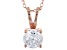 2.17ct Cubic Zirconia 18k Rose Gold Over Sterling Silver Pendant With 18