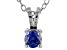 .43ct Blue Cubic Zirconia Sterling Silver Solitaire Pendant With 18
