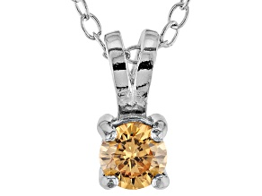 .43ct Cubic Zirconia Sterling Silver Solitaire Pendant With 18