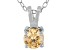 .79ct Cubic Zirconia Sterling Silver Solitaire Pendant With 18