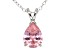 2.98ct Pink Cubic Zirconia Sterling Silver Solitaire Pendant With 18