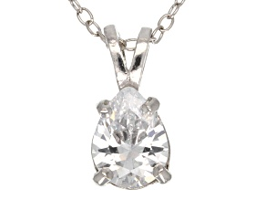 1.85ct Cubic Zirconia Sterling Silver Solitaire Pendant With 18