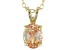 2.06ct Cubic Zirconia 18k Yellow Gold Over Sterling Silver Pendant With 18