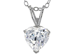 1.92ct Cubic Zirconia Sterling Silver Solitaire Pendant With 18