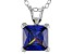 3.33ct Blue Cubic Zirconia Sterling Silver Solitaire Pendant With 18