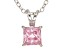 1.21ct Pink Cubic Zirconia Sterling Silver Solitaire Pendant With 18
