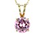 6.58ct Cubic Zirconia 18k Yellow Gold Over Sterling Silver Pendant With 18