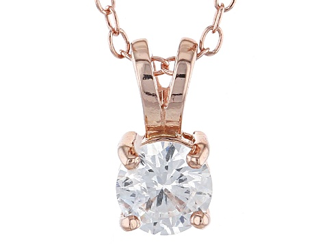 .79ct Cubic Zirconia 18k Rose Gold Over Sterling Silver Pendant With 18
