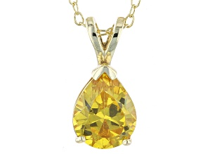2.98ct Cubic Zirconia 18k Yellow Gold Over Sterling Silver Pendant With 18