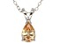 1.21ct Cubic Zirconia Sterling Silver Solitaire Pendant With 18