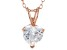 1.92ct Cubic Zirconia 18k Rose Gold Over Sterling Silver Pendant With 18