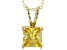 5.12ct Cubic Zirconia 18k Yellow Gold Over Sterling Silver Pendant With 18