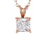 2.10ct Cubic Zirconia 18k Rose Gold Over Sterling Silver Pendant With 18