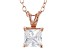 1.21ct Cubic Zirconia 18k Rose Gold Over Sterling Silver Pendant With 18