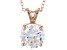 "4.68ct Cubic Zirconia 18k Rose Gold Over Sterling Silver Pendant With 18"" Chain"
