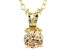 .79ct Cubic Zirconia 18k Yellow Gold Over Sterling Silver Pendant With 18