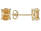 1.08ctw Champagne Cubic Zirconia 18k Yellow Gold Over Sterling Silver Earrings