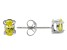 .70ctw Yellow Cubic Zirconia Rhodium Over Sterling Silver Oval Stud Earrings