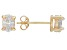 .79ctw Cubic Zirconia 18k Yellow Gold Over Sterling Silver Oval Stud Earrings