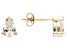 .93ctw Cubic Zirconia 18k Yellow Gold Over Sterling Silver Stud Earrings