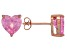 .90ctw Pink Cubic Zirconia 18k Rose Gold Over Sterling Silver Stud Earrings
