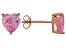 1.22ctw Pink Cubic Zirconia 18k Rose Gold Over Sterling Silver Stud Earrings