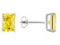 1.28ctw Yellow Cubic Zirconia Rhodium Over Sterling Silver Stud Earrings