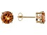 1.26ctw Champagne Cubic Zirconia 18k Yellow Gold Over Sterling Silver Earrings