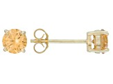 .56ctw Champagne Cubic Zirconia 18k Yellow Gold Over Sterling Silver Earrings