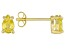 .83ctw Yellow Cubic Zirconia 18k Yellow Gold Over Sterling Silver Stud Earrings