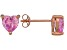 .92ctw Pink Cubic Zirconia 18k Rose Gold Over Sterling Silver Stud Earrings