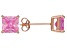 1.02ctw Pink Cubic Zirconia 18k Rose Gold Over Sterling Silver Stud Earrings