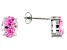 1.22ctw Pink Cubic Zirconia Rhodium Over Sterling Silver Oval Stud Earrings