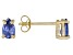.83ctw Blue Cubic Zirconia 18k Yellow Gold Over Sterling Silver Stud Earrings