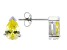 .93ctw Yellow Cubic Zirconia Rhodium Over Sterling Silver Stud Earrings