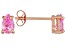 .83ctw Pink Cubic Zirconia 18k Rose Gold Over Sterling Silver Stud Earrings
