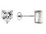 .90ctw Cubic Zirconia Rhodium Over Sterling Silver Heart Stud Earrings