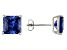 1.24ctw Blue Cubic Zirconia Sterling Silver Princess Stud Earrings