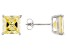 1.24ctw Yellow Cubic Zirconia Sterling Silver Princess Stud Earrings