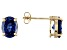 1.22ctw Blue Cubic Zirconia Sterling Silver Stud Earrings